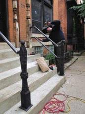 Installing The New Handrails / Concrete Stairs Restoration   208 W. St. Paul