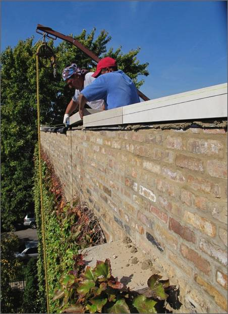 Roof Coping Replacement Installation ClayTile Stone Steel - Clay coping tiles prices