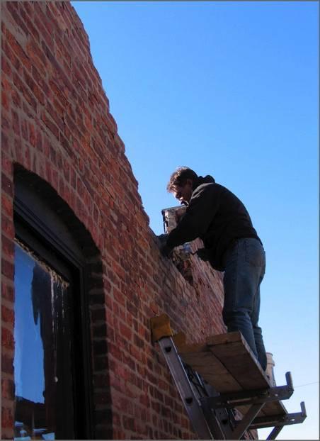 Parapet Wall Repair Rebuilding Brick Masonry